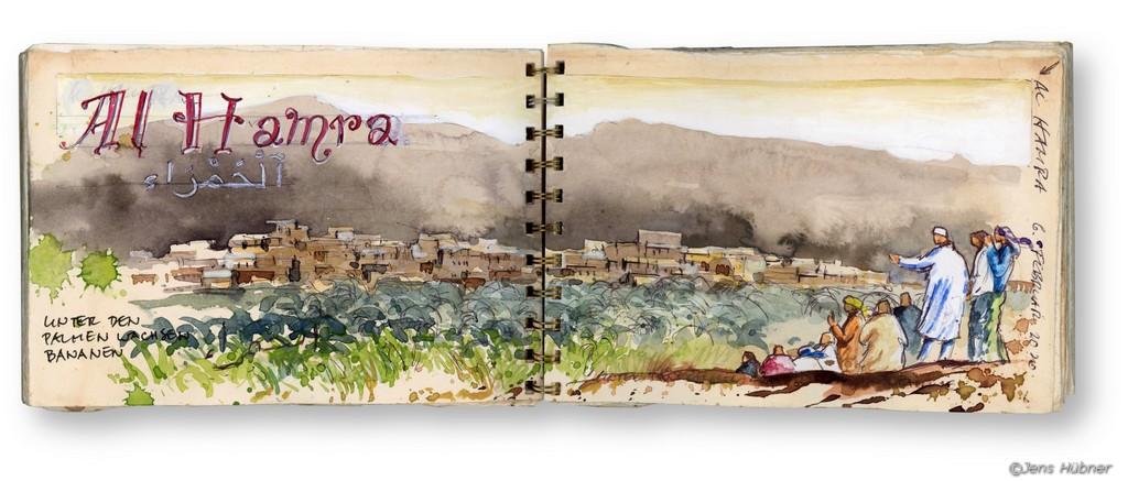 """Malreise Oman """"Reiseskizzieren und -aquarellieren im Orient"""""""