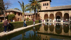 Detail der weltberühmten Alhambra in Granada